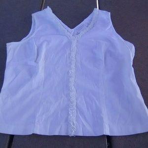 WORTHINGTON stretch white sleeveless top